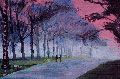 Impressionistic style of a park