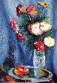 Impressionistic style of a vase